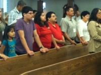 An evangelizing, family moment during El Encuentro de 2014.