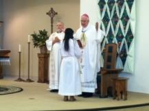 Archbishop Kurtz presides at Mass with Rev. Joseph M. Rankings, our new Vicar for Hispanic Ministry