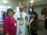Archbishop Kurtz with St. Edward participants