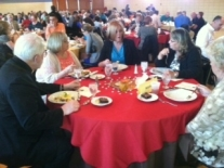 Debbie Minton & others at table