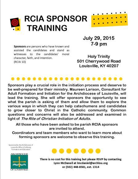 Sponsor Training 7.29.15