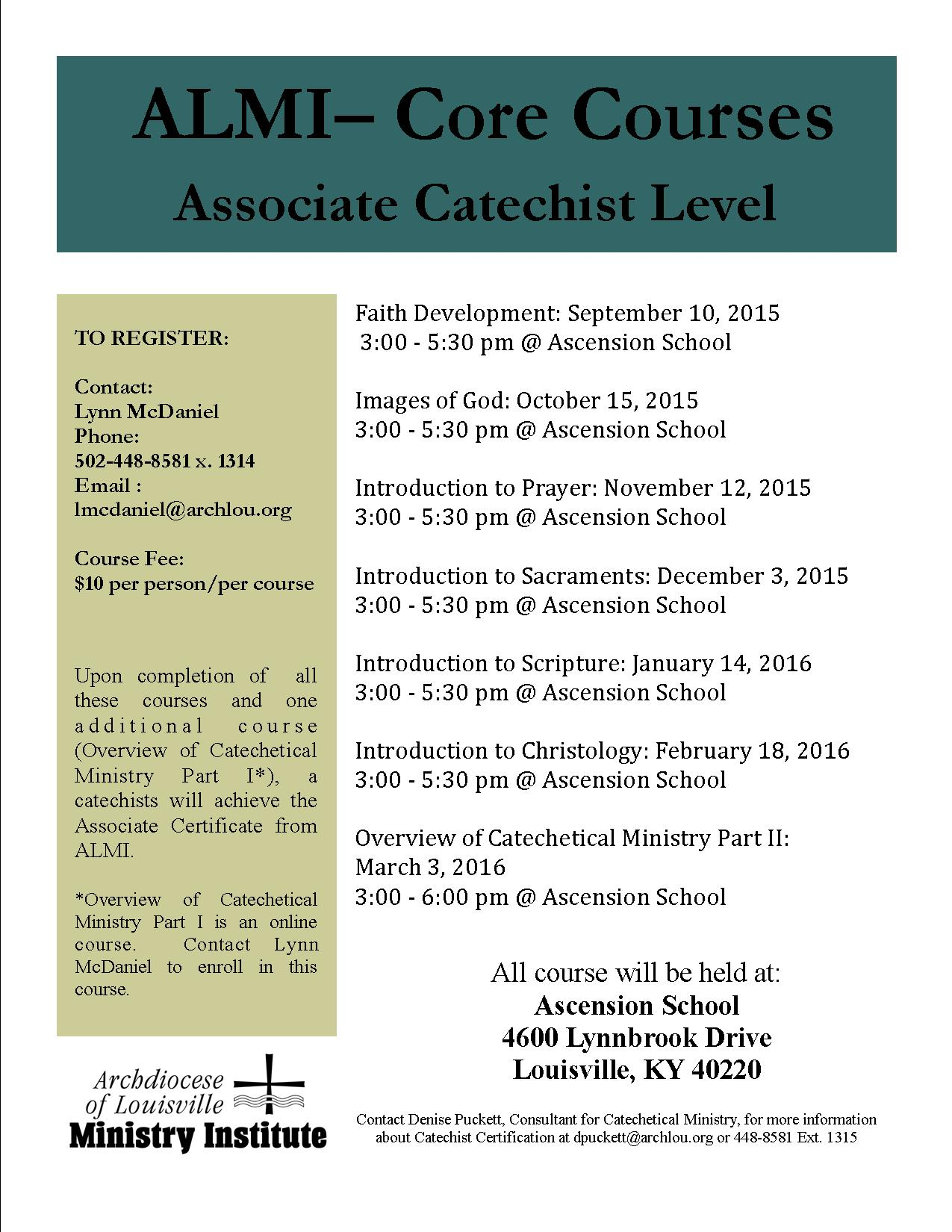 Almi core courses at ascension formed in faith ascension core courses 1betcityfo Gallery