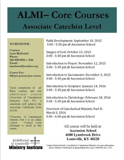 Ascension Core Courses