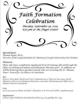 Faith Formation Celebration