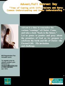 Advent Retreat Flyer 2015