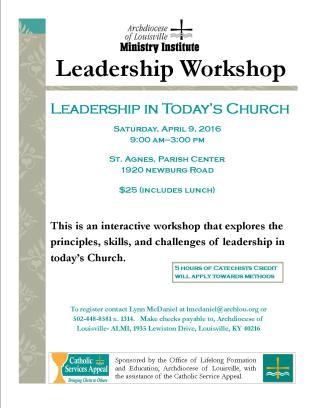 Leadership Workshop 4.9.16