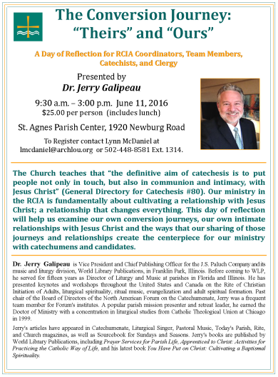RCIA Team Day June 11, 2016 flyer