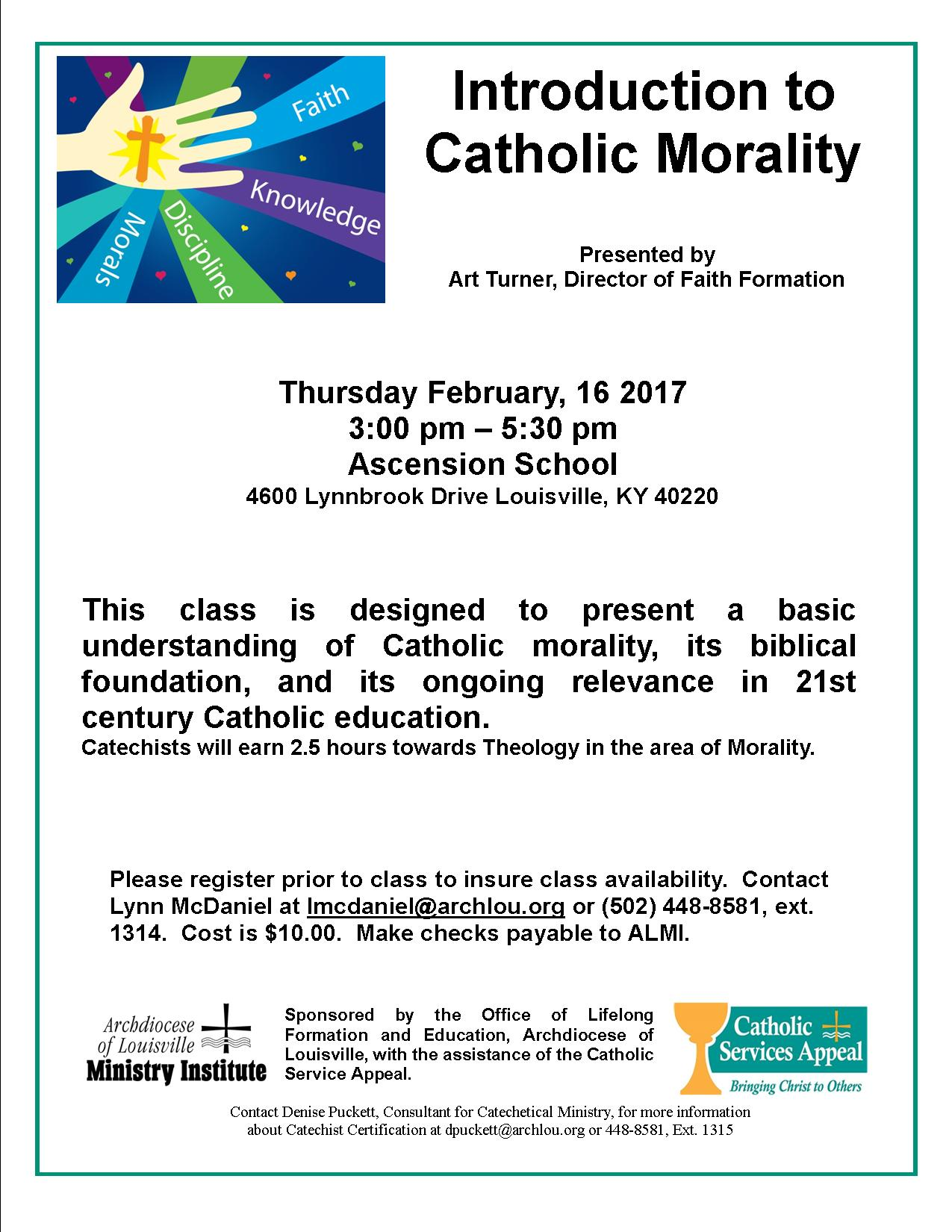 Intro To Catholic Morality 2 16 17 Formed In Faith